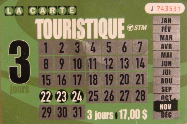 STM Tourist Card