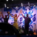Fatoumata Diawara with the band