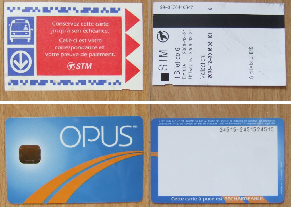 Carte Opus Montreal.Opus Card And A La Carte Tickets Aczoom